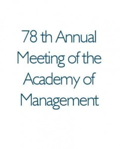 78th Annual Meeting of the Academy of Management 2